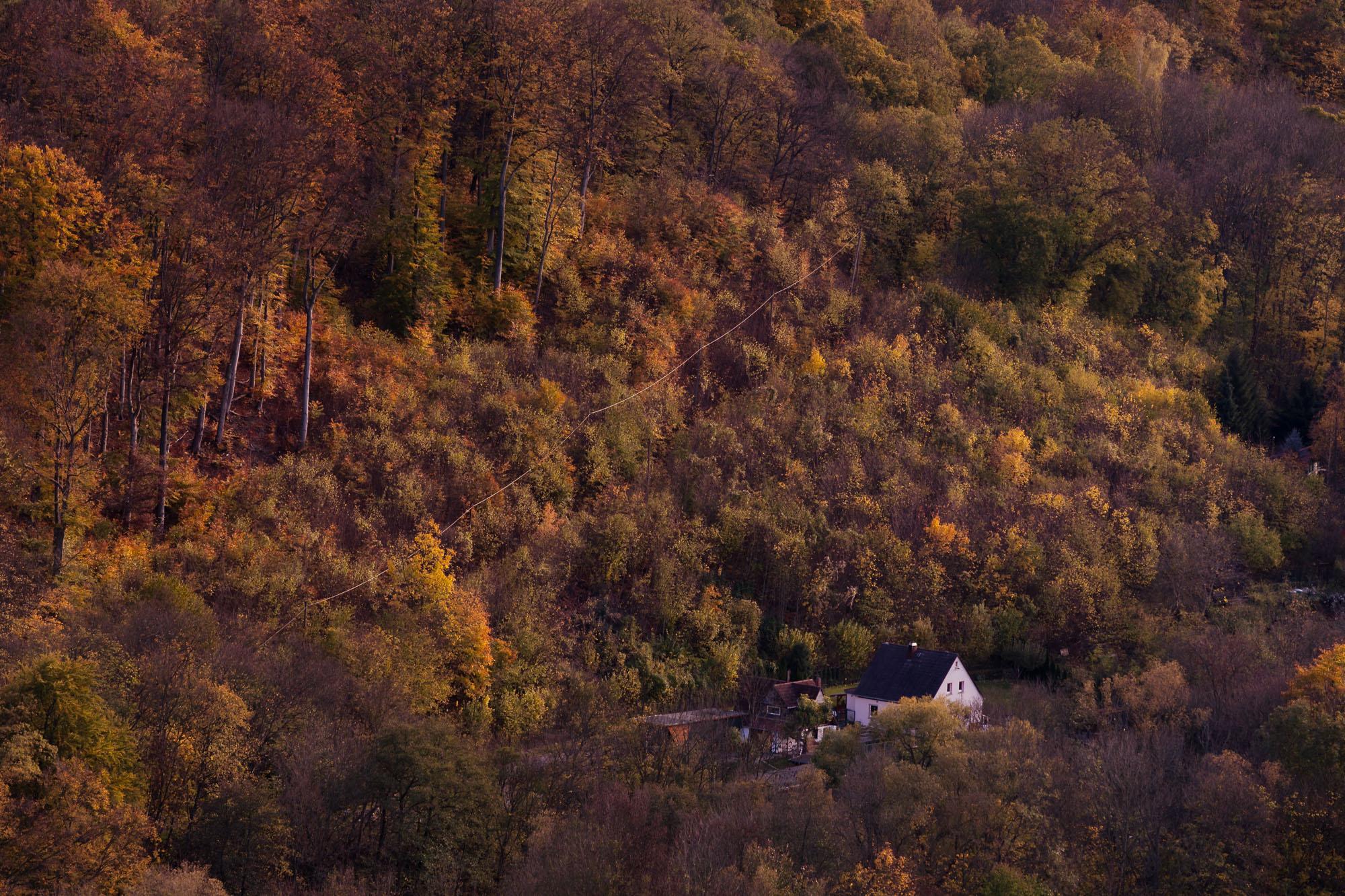 Haus im Herbst Deutschland